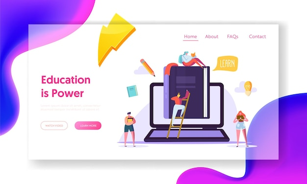 온라인 교육 비즈니스 코스 랜딩 페이지.