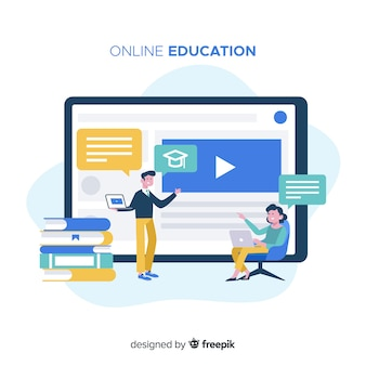 Online education concept