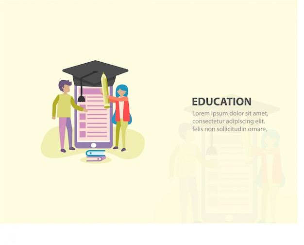 Online education or course background design
