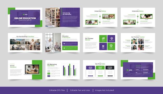 온라인 교육 과정 또는 교육 프레젠테이션 템플릿 디자인