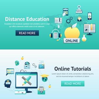 Concetto di design di formazione online