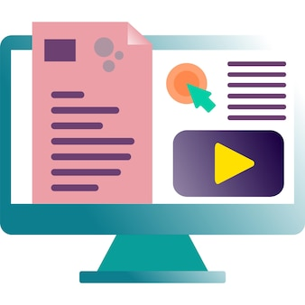 Online education icon training course study vector