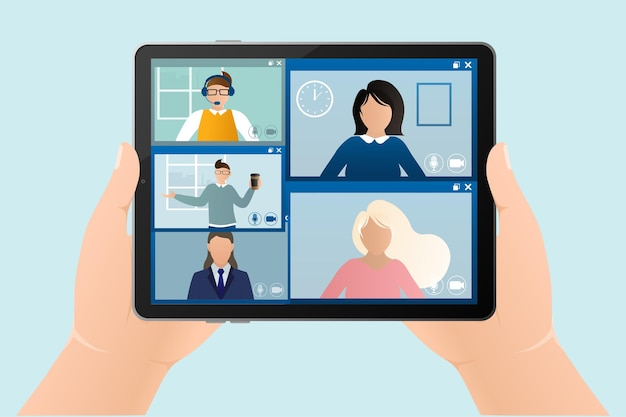 Online education illustragive-and-take