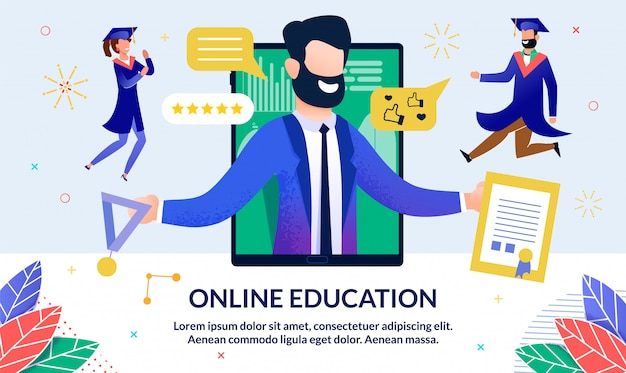 온라인 교육 일러스트