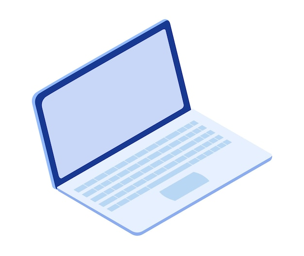 ラップトップで等尺性のオンライン教育。学生のための自宅でのeラーニング。遠隔教育