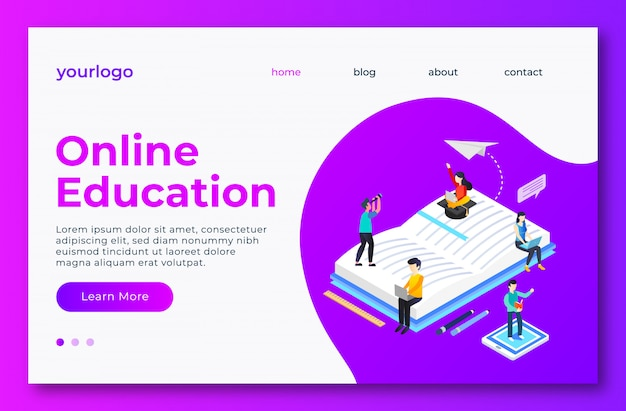 Online education landig page