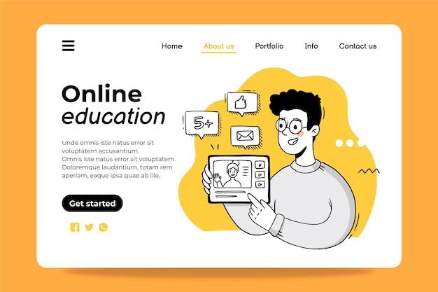 온라인 교육 방문 페이지 디자인 서식 파일