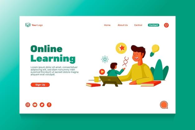 Шаблон целевой страницы онлайн-образования
