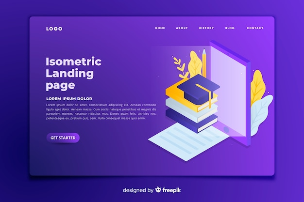 Online education landing page template