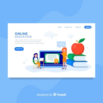 Online education landing page