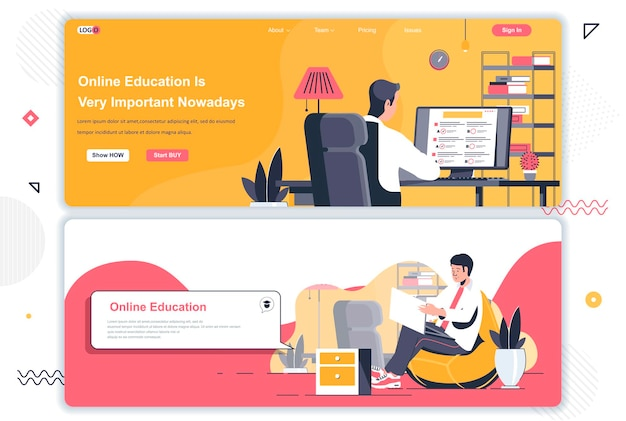 Online education landing pages