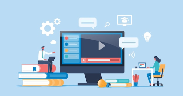 Online education and learning concept