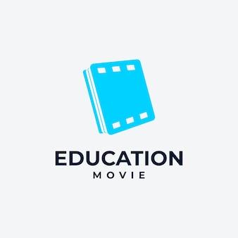 온라인 교육 로고 북 및 미디어 로고