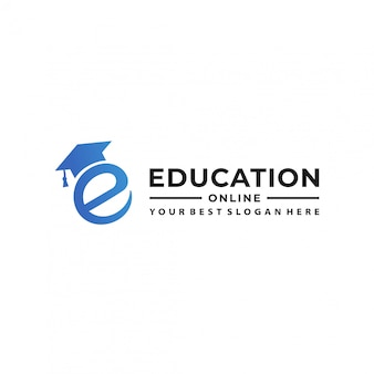 Online education logo design template.