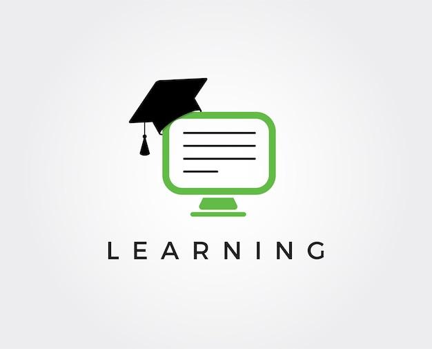 Online education logo template