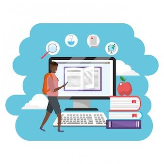 Online education millennial student computer