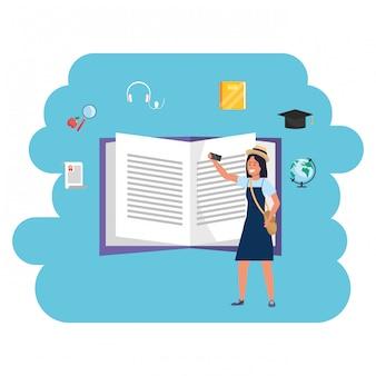 Online education millennial student open book