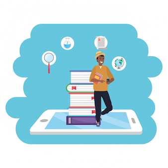 Online education millennial student tablet