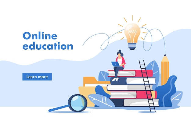 온라인 교육 또는 비즈니스 교육.