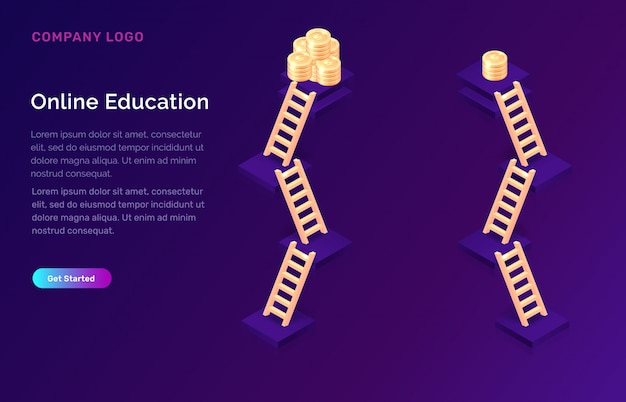온라인 교육 또는 훈련 아이소 메트릭 개념
