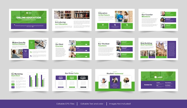 온라인 교육 또는 대학 프리젠 테이션 템플릿 디자인