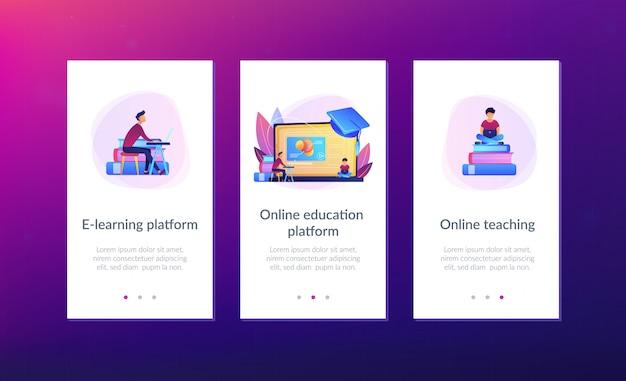 Online education platform app interface template.