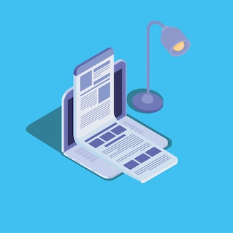 Online education technology with laptop