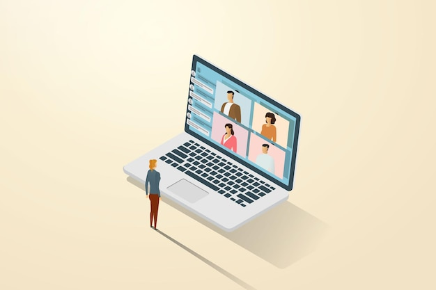Онлайн-обучение через видеозвонок с онлайн-ссылками, как если бы вы учились с сокурсниками