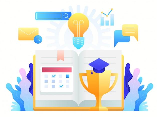 Образование онлайн, учебные курсы, дистанционное обучение и глобальное образование.