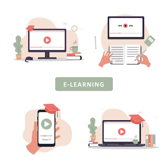 Online education. training and video tutorials.