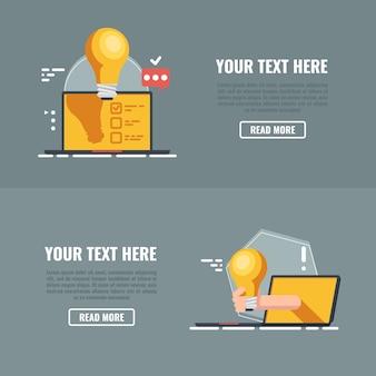 Интернет-образование. концепции значков видео.