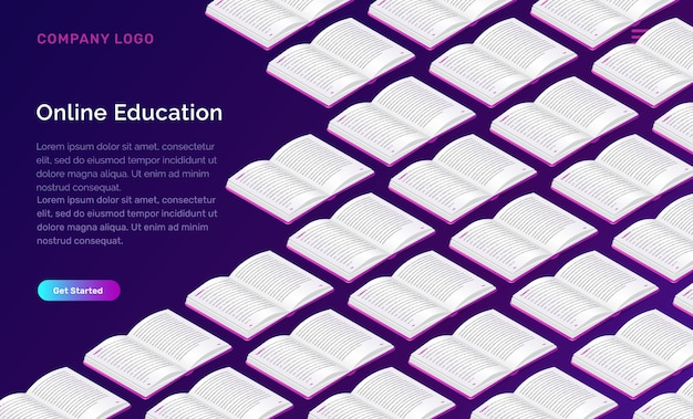 Online education web template