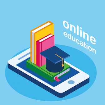 Online education with smartphone and ebooks