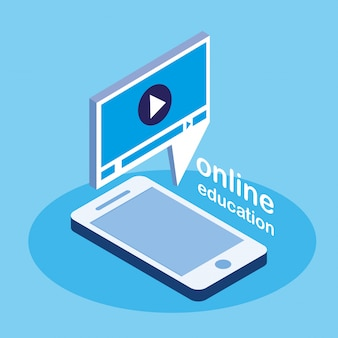 Online education with smartphone