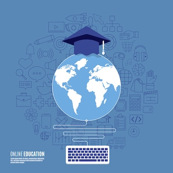 Online educations concept