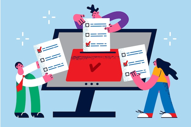 Online elections and making choice concept