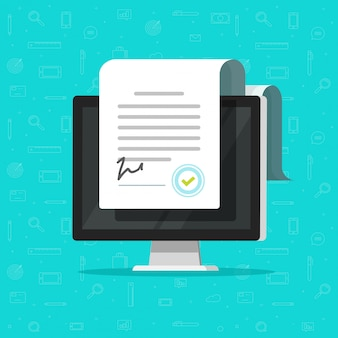 オンライン電子文書またはスマート契約