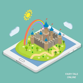 Online fairy tale reading isometric