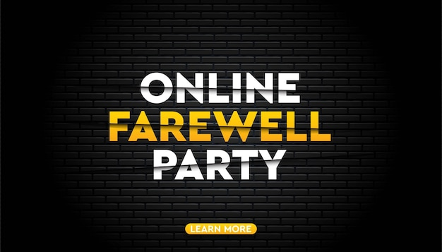 Шаблон фона прощальной вечеринки онлайн