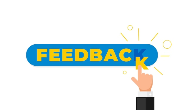 Online feedback, reputation, quality, customer review concept flat style. businessman hand finger pointing letter k in word like rating. vector illustration. eps10