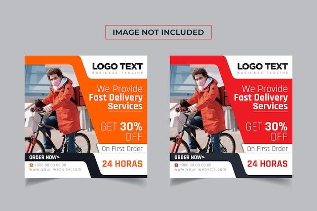 Online food delivery social media post design