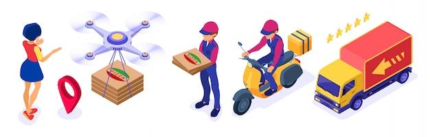 オンライン食品注文パッケージ配達サービス