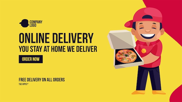 Online free delivery on all orders banner design