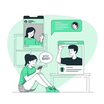 オンライン友達の概念図