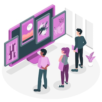 Online gallery concept illustration