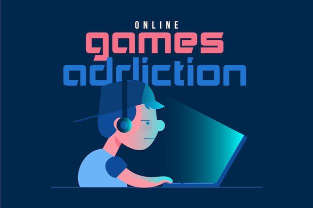 Concetto di dipendenza da giochi online