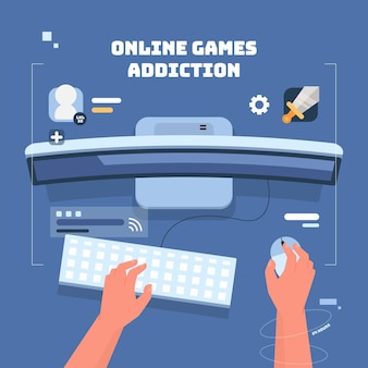 Online games addiction