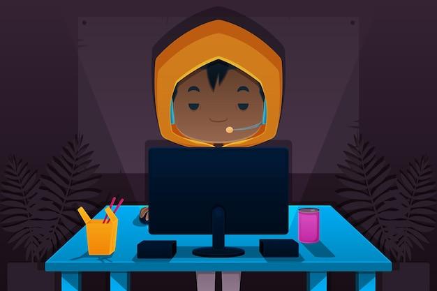 Online games addiction