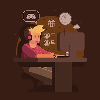 Concetto di aggiunta di giochi online