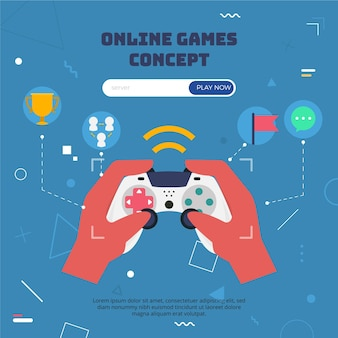 Online games concept with controller